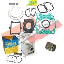 Honda CR250 CR 1986 66.40mm Bore Mitaka Top End Rebuild Kit Inc Piston & Gaskets